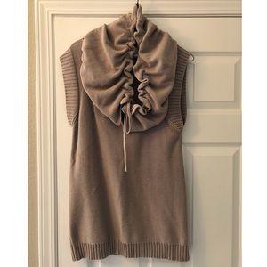 Anthropologie Shae Sleeveless Cowl Neck Sweater